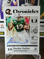 DEEJAY DALLAS 2020 PANINI CHRONICLES DRAFT GOLD AUTO AUTOGRAPH RC SEAHAWKS