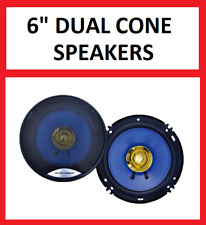 "NEW  6"" DUALCONE CAR DOOR SHELF SPEAKERS PAIR 6 INCH"