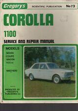 TOYOTA COROLLA 1100 1967-70 SERVICE & REPAIR WORKSHOP MANUAL BY GREGORYS