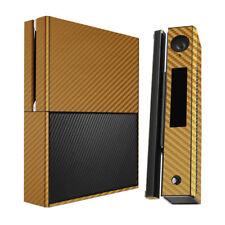 Skinomi Carbon Fiber Gold Skin Cover for Microsoft Xbox One+Kinect Combo