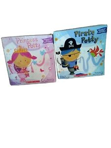 FIRST ED Princess & Pirate Potty Books Stickers & Tiara Toilet Training Toddler