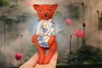 Felted mini fox, fox ooak toy, artist fox