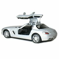 "Brand New 5"" Kinsmart Mercedes Benz SLS AMG Diecast Model Toy Car 1:36 SILVER"