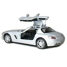 "Brand New 5"" Kinsmart Mercedes Benz SLS AMG Diecast Model Toy Car 1:36 SILVER"