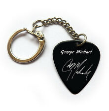 GEORGE MICHAEL signature reproduced printed guitar pick keychain keyring