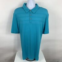 Adidas Climacool Polo Shirt Men's Size 2XL Blue Short Sleeve Golf Rugby