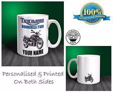 Triumph Bonneville T100 Motorbike Personalised Ceramic Mug Gift (MB044)