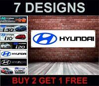 Hyundai PVC Poster Striscione Officina, Garage, Concessionario & Camera Ufficio