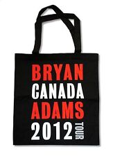 """BRYAN ADAMS """"CANADA 2012 TOUR"""" BLACK TOTE BAG NEW OFFICIAL BAND MUSIC CONCERT"""
