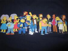Mens SIMPSONS Weathered Blue Short Sleeve Cotton T Shirt Shirts XL