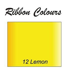 Personalized Yellow 50mm Ribbon Birthday Christmas Wedding Anniversary Hen Stag,