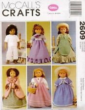 """Pattern Sewing McCalls Doll Clothes Historical fit 18"""" in Girl New"""