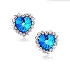 Super lovely crystal heart necklace earrings ring bracelet set multiple choices