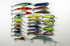 25 Fishing Lures Crankbait Tackle Plug Wobblers Baits