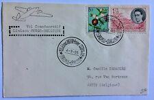 Belgian Congo cover 1955 Commemorative Flight Edmond Thieffry to Belgium