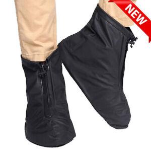 Rain Shoe Covers Overshoes Anti-Slip Boot Cover Protector Waterproof UK