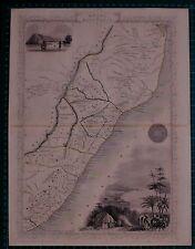 c1850 ANTIQUE MAP SOUTH AFRICA NATAL KAFFRARIA RAPKIN & TALLIS