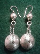 HANDMADE CUSTOM DESIGN 900 SILVER MERCURY DIME BEADED COIN EARRINGS (CDT0054)