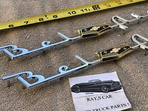 NEW PAIR OF REPLACEMENT 1953 AND 1954 CHEVROLET BEL AIR SIDE TRIM !