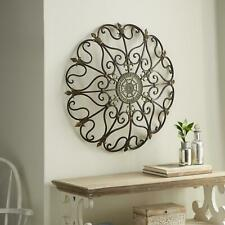 Large Metal Antique Wall Art Medallion Hanging Rustic Dome Circular Round Decor