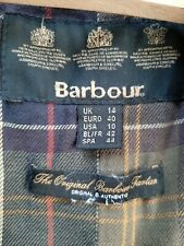 Barbour Ladies Wax Jacket Size 14 Spring Weight