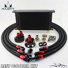 22 Row AN10 Oil Cooler +3/4*16 UNF & M20*1.5 Filter Relocation Adapter Hose Kit