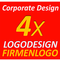 4x Logodesign Layout Service Firma Firmengründung Firmenlogo Corporate Design