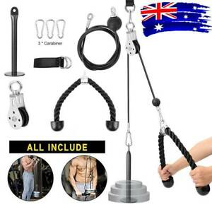 Pulley System Cable Attachment Pull Down Machine DIY Home Gym Workout Kit AU