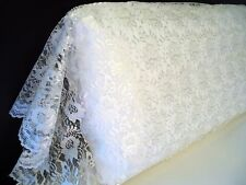 King ORGANZA LACE Pillowcase Sham Daytime Cover WHITE ALL LACE by UtaLace NEW