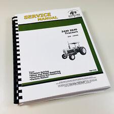 Technical Service Manual for John Deere 2440 2640 Tractor Repair Shop Book
