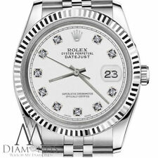 White Diamond Rolex 26mm Datejust 18K White Gold & Stainless Steel Classic Style