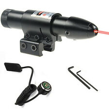 Tactical Red Laser Dot Sight Scope Hunting Tactical Rifle Remote 2 Mount
