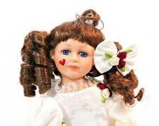 """14"""" Porcelain Doll Geppeddo Happy Valentines Vickie on stand with tag"""