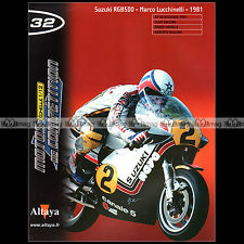 MOTOS COMPETITION N°32 MARCO LUCCHINELLI SUZUKI RGB 500 1981 GP MAMOLA GALLINA