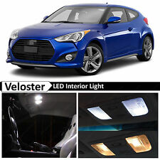 8x White LED Lights Interior Package Kit for 2011-2015 Veloster