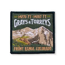Grays & Torreys Colorado 14ers Emboirdered Mountain Patch