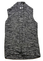 ✨⭐️Gap For Good All Cotton Woven Sweater Vest Long Tunic Size L. Gray/ Black⭐️✨