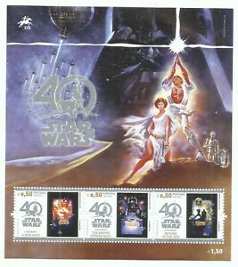 Portugal 2017 - 40 Years Star Wars S/S MNH