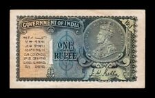 B-D-M India 1 Rupee George V 1935 Pick 14a EBC XF