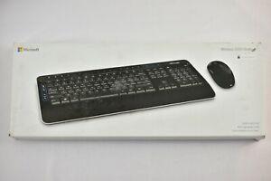 Microsoft Desktop 3050 Wireless Keyboard & Mouse Black PP3-00001 TESTED WORKING