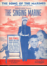 "SINGING MARINE Sheet Music ""Song Of The Marines"" Dick Powell"