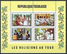 Togo - Religionen in Togo Block 57 postfrisch 1971 Mi. 880-883