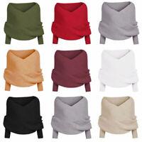 Women's Long Sleeve Casual Knitted Sweater Jumper Cardigan Knitwear Outwear Tops