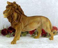 Gartenfigur XL Löwe Skulptur Figur Tierfigur Afrika Lion Raubkatze Deko Statue