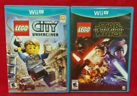 Lego City Undercover + Star Wars Force  Nintendo Wii U 2 Game Lot Tested 1 Owner