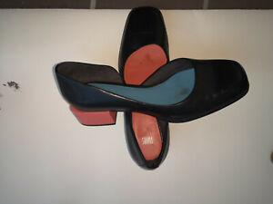 Camper Twins hellblau/rosa Pumps,Gr 40, Glatt Leder! 2x getragen, 3 cm Absatz