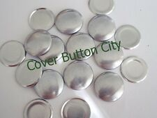 100 Size 36 (7/8 inch) Cover Buttons - FLAT BACKS