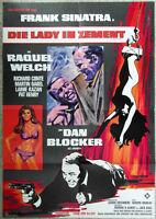 Filmplakat Lady in Zement - Frank Sinatra Dan Blocker Raquel Welch A1