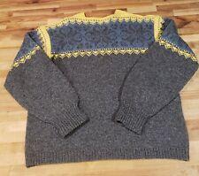 VTG Wool Nordic Fair Isle  Sweater Handmade Nordic