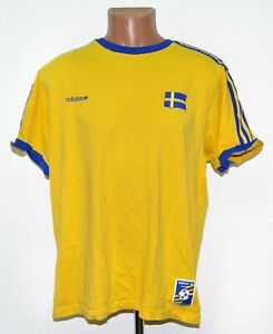 SWEDEN ADIDAS ORIGINALS FOOTBALL SHIRT JERSEY ADIDAS SIZE XL ADULT